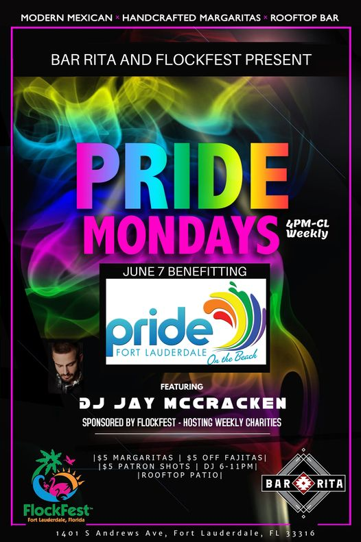Bar Rita PRIDE Monday for PRIDE Fort Lauderdale